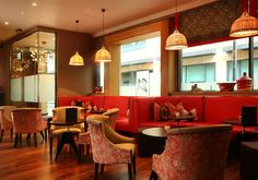Classic Modern Bistro | 21 interior design by Ward Robinson | Newcastle upon Tyne | Bar Seating Area