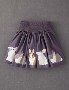Appliqué Skirt-- bunnies!  (Boden)