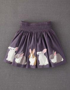 Appliqué Skirt-- bunnies!  (Boden)
