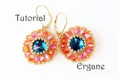 While wearing these earrings You will feel like it was summer all the year. Just pick colors that You love and bead it by Yourself.