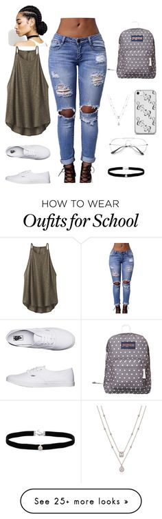 """""""For a school field trip"""" by missamlavikomla on Polyvore featuring prAna, Vans, JanSport and Amanda Rose Collection"""