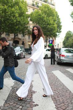 Paris Couture Week street style. [Photo by Kuba Dabrowski]