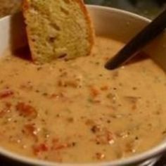 Slower Cooker Tomato Basil Parmesan Soup