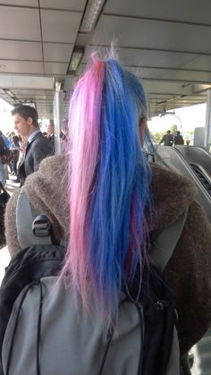 Half Dyed Hair, Heart Hair, Hair Color, Fancy, Hair Styles, Pastel Pink, Pink Blue, Inspiration, Beauty