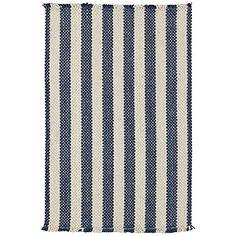 Cobblestone Braided Rug, Denim Shingle Stripe   World Market- i love it for the kitchen