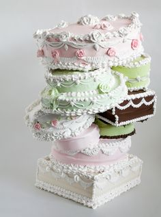 """Wedding cakes today can be anything: stacks of meringue, fantasies of fondant, fruit pies, layered """"naked cakes,"""" savory creations of rice flour, et cetera, et cetera. Delicious, by Will Cotton, 2008."""