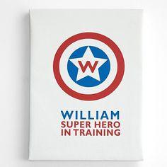 superhero in training wall art