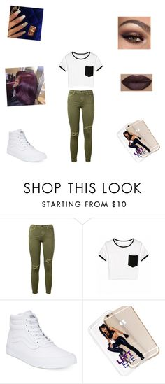 """""""Untitled #332"""" by shaylaallen ❤ liked on Polyvore featuring Current/Elliott and Vans"""