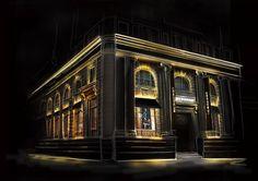 Lighting Design Illustration - Burberry Facade Render LOW