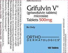 Grifulvin V (Griseofulvin) is used for treating fungal infections of the scalp, body, foot (athlete's foot), nails, thigh (jock itch), or hair follicles (barber's itch). Grifulvin V is an antifungal agent. It works by making the skin more resistant to fungal growth. Antifungal Tips Health Tips For Girls Youthful Skin Tips Health Asian Skin Care Products