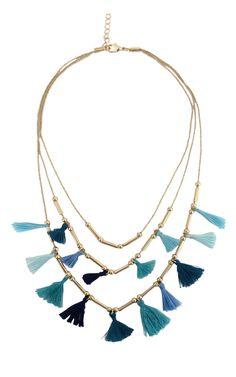 Midnight Dainty Tassel Necklace