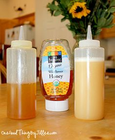 Honey Hair Conditioner Add a beautiful shine to your hair. Mix 1/2 cup honey with 1/4 cup olive oil. (Use 2 tablespoons of oil if you have normal to oily hair.) Using a small amount at a time, work mixture through hair until it is evenly coated. Cover hair with a shower cap; leave on 30 minutes. Remove shower cap; shampoo well and rinse. Dry and style as usual.