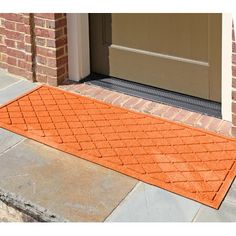 "Darby Home Co Aqua Gretchen Argyle Doormat Rug Size: Rectangle 18"" x 28"", Color: Orange"