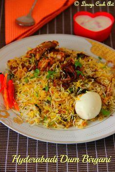 Hyderabadi Dum Biryani/ Chicken Biriyani/ Kachchi Gosht ki Biryani ~ Lincy's Cook Art