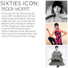 Rx Vintage Style Icons 1960s Fashion, Vintage Fashion, Peggy Moffitt, May Flowers, False Lashes, Eye Make Up, Style Icons, Vintage Style, Retro