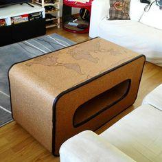 Красивая мебель радует глаз, а мебель, сделанная своими руками, радует душу и чужие уши. Своими руками, стол, пробки, увлечение, длиннопост