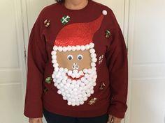 Making Ugly Christmas Sweaters, Diy Ugly Christmas Sweater, Christmas Buttons, Ugly Sweater, Christmas Tops, Christmas Things, Christmas Crafts, Christmas Ornaments, Christmas Fashion