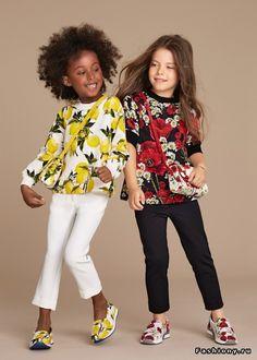 Dolce   Gabbana Bambino Весна-Лето 2016 Мода Для Маленьких Девочек, Мода  Для Малышей eda8fc2a097