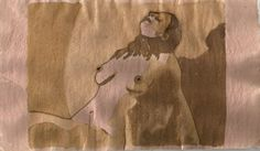 The longing (coffee on handmade straw paper)