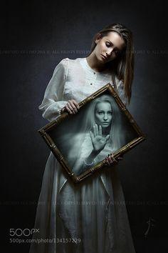 Prison for the soul - Pinned by Mak Khalaf Young woman soul imprisoned inside magical mirror . Dark fantasy and surreal Fine Art aloneconceptdarkdramaticdreamesotericfantasygateghostgulino lorenzohalloweenimprisonedmagicmagicalmirrormysticalportalprisonreflectionslavesoulspiritstrangesurrealtaletrapunrealweirdwoman by LorenzoGulino