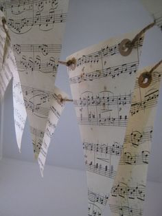 Items similar to Musical Notes Love Songs Paper Bunting Garland 6 Meters on Etsy Paper Bunting, Bunting Garland, Buntings, Bunting Ideas, Paper Book, Note Paper, Paper Art, Roman Clock, Theme Tunes