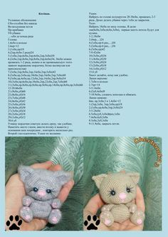 Amigurumi Cat - Tutorial Moss ༺✿ƬⱤღ https://www.pinterest.com/teretegui/✿༻