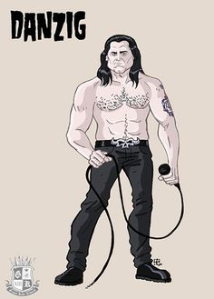 Glenn Allen Anzalone (Lodi, Nueva Jersey, 23 de junio de 1955), de nombre artístico Glenn Danzig, es un músico estadounidense. Es cantante, compositor y escritor. Danzig es el fundador de las bandas The Misfits, Samhain y Danzig. Es considerado como uno de los creadores del género horror punk. The Misfits, Glenn Danzig, Scooby Doo, Music Artwork, Metal Artwork, Blade Runner, Samhain, Horror Punk, Metal Bands