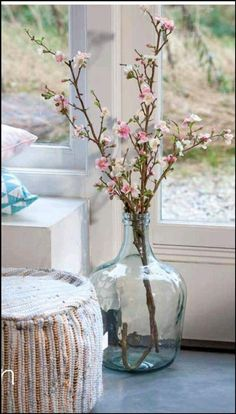 New Ideas Flowers Vase Decoration Bloemen Vases Decor, Centerpieces, Glass Bottles, Glass Vase, Big Glass Jars, Bottle Vase, Vibeke Design, Big Vases, Large Vases