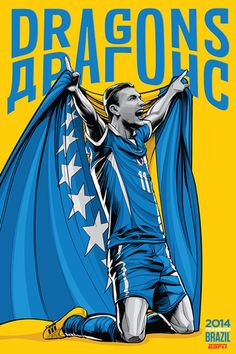 Bosnia Herzegovina, Afiches fútbol Copa Mundial Brasil 2014 / World Cup posters by Cristiano Siqueira