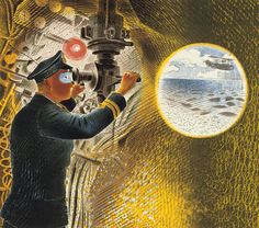 Commander of a Submarine looking through a Periscope, 'Submarine Series' 1941,