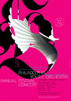 Philadelphia Youth Orchestra Annual Festival Concert: paone design associates--like the graphic, hate the text placement