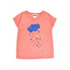 Tee-shirt rain rose