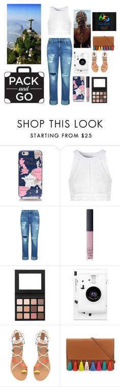 """""""Brazil"""" by lostreality ❤ liked on Polyvore featuring Kate Spade, Glamorous, 7 For All Mankind, NARS Cosmetics, Lomography and Rebecca Minkoff"""