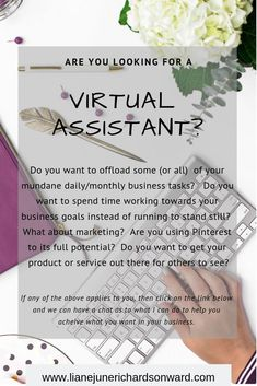 Do you need someone to handle your mundane daily business tasks? Do you want to be more visible on this fantastic search engine that is Pinterest? If so click through to find out more...  #Businss #Marketing #VirtualAssistant #PinterestMarketing #BlogMana Online Marketing, Social Media Marketing, Business Marketing, Affiliate Marketing, Running To Stand Still, Business Goals, Business Ideas, Do It Right, Chakra Healing