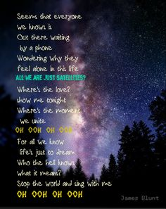 james blunt - satellites.  #music #james blunt #satellites