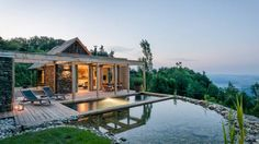 """Stadl Altenbach is a historic """"Kellerstöckl"""" (an agricultural building) transformed into a wellness retreat in southern Styria, Austria. Austria Winter, Agricultural Buildings, Container House Plans, Building A Pool, Villa, Sauvignon Blanc, Vacation Spots, Places To Visit, House Design"""