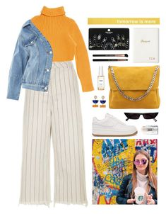 """""""yell"""" by s-ensible ❤ liked on Polyvore featuring NIKE, Hermès, Topshop, CÉLINE, GiGi New York, MILK MAKEUP and Ouai"""