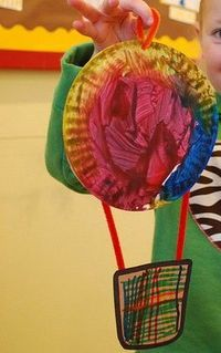 hot air balloon craft - simple and basic