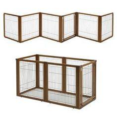 Diy Dog Gate, Pet Gate, Indoor Dog Gates, Dog Playpen, Dog Kennels, Dog Pen, Bird House Kits, Indoor Pets, Wood Dog