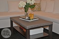 The Fab and Frugal | Miami & DC Fashion Blog | Leather Studded Ikea Lack Coffee Table