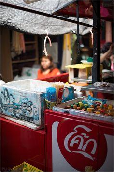 Food at Chatuchak Weekend Market Bangkok – near Mo-Chit BTS Station and Chatuchak Park - Bangkok, Thailand
