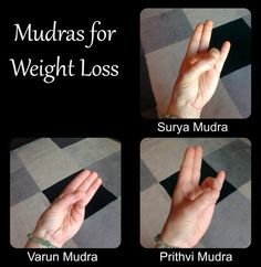 Mudras for weight loss