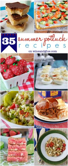 35 Summer Potluck Recipes | www.wineandglue.com | GREAT recipes that are perfect to bring to a summer party!