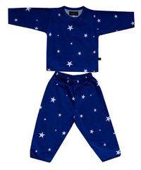 Lasten pyjama, sinivalkoinen - Ratiashop