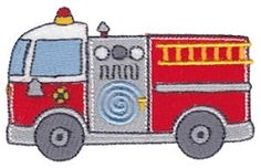 Fire Truck Filled - 4X4! | Trucks | Machine Embroidery Designs | SWAKembroidery.com Bunnycup Embroidery