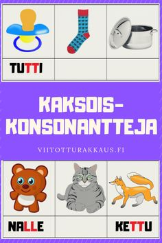 Kaksoiskonsonantteja - Viitottu Rakkaus English Class, Early Childhood Education, Diy For Kids, Psychology, Preschool, Language, Children, Early Education, Psicologia