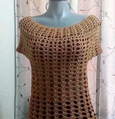 Crochet Fall, Crochet Tunic, Crochet Clothes, Knit Crochet, Crochet Chart, Crochet Stitches, Crochet Patterns, Blouse Tutorial, Sweaters For Women