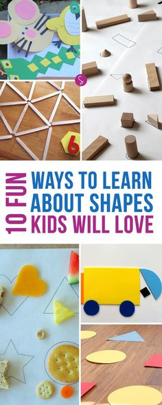 Learning the different shapes is really important for toddlers and preschoolers as they are key to pre-math and logic and pre-reading and writing skills.