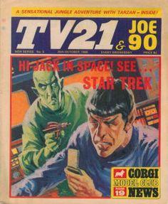 TV21 & Joe 90 comic featuring Star Trek