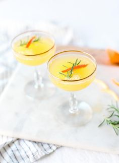 Clementine and rosemary mimosas: as refreshing as it gets.